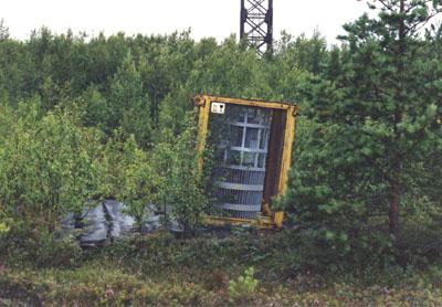 Et radioaktivt batteri plassert trygt i de russiske skoger - Fra http://www.qrp.gr/technology/thermocouple/37598.htm